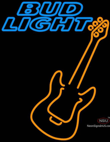 Bud Light Neon Only Orange GUITAR Neon Sign
