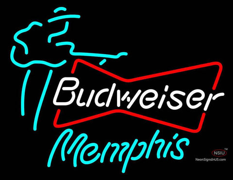 Budweiser Memphis Guitar Player Neon Sign