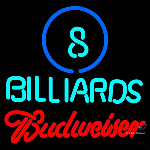 Budweiser Neon Ball Billiards Pool Neon Sign   x