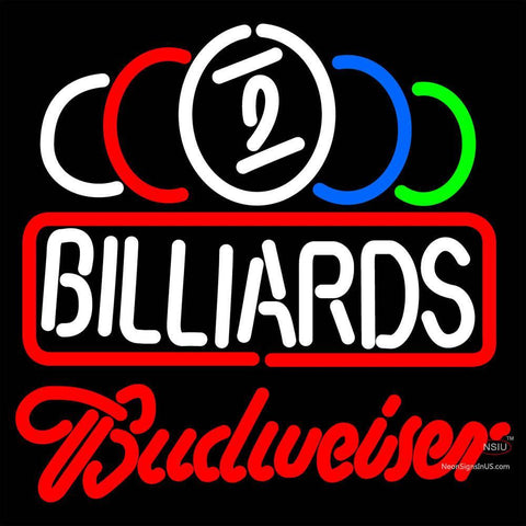 Budweiser Neon Ball Billiards Text Pool Neon Sign   x