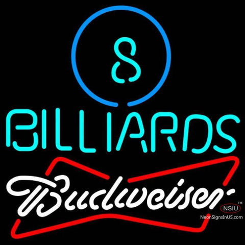 Budweiser White Ball Billiards Pool Neon Sign