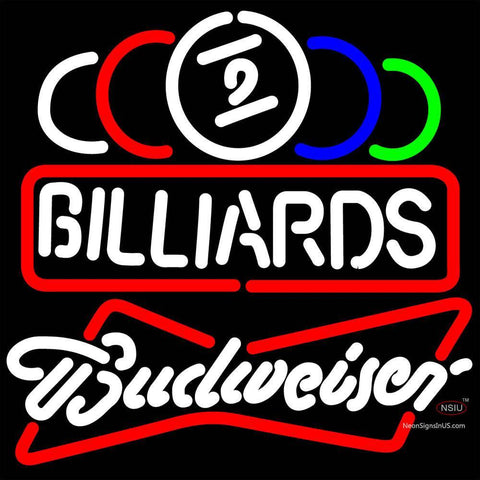 Budweiser White Ball Billiards Text Pool Neon Sign   x