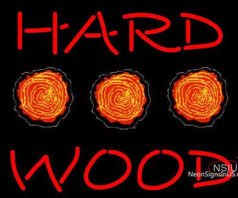 Hard Wood Neon Sign x