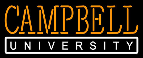 Campbell Fighting Camels Wordmark   Logo NCAA Neon Sign