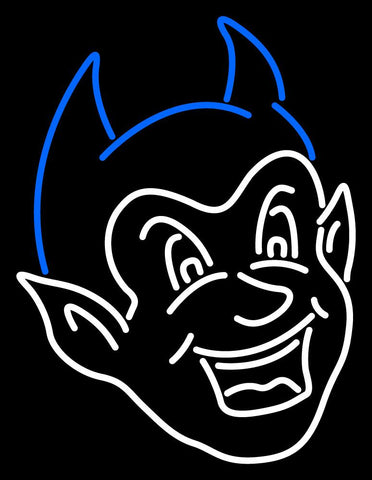 Ccsu Blue Devils Secondary   Logo NCAA Neon Sign