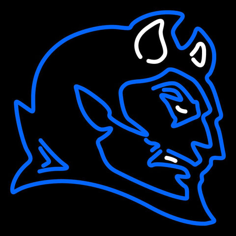 Ccsu Blue Devils Secondary  Pres Logo NCAA Neon Sign