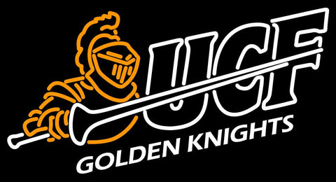 Central Florida Knights Primary   Logo NCAA Neon Sign