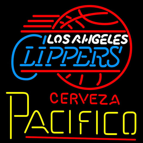 Cerveza Pacifico Los Angeles Clippers NBA Neon Beer Sign