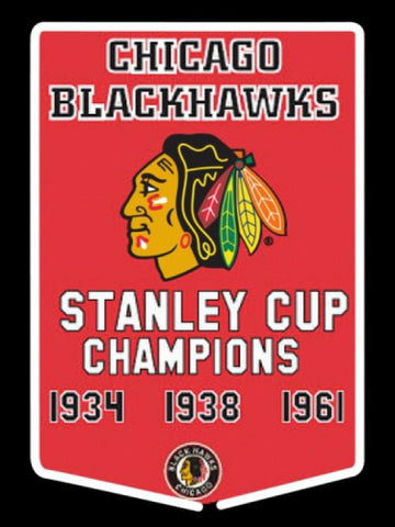 Chicago Blackhawks Stanley Cup Champions Years Hockey Neon Sign