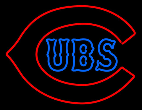Chicago Cubs Primary   Logo MLB Neon Sign