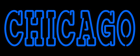 Chicago Cubs Wordmark  Pres Logo MLB Neon Sign