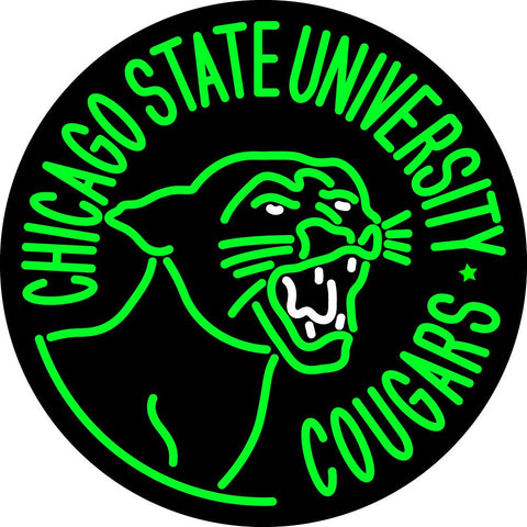 Chicago State Cougars Primary   Logo NCAA Neon Sign