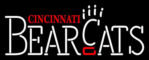 Cincinnati Bearcats Wordmark   Logo NCAA Neon Sign