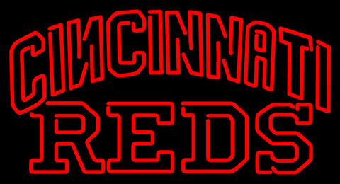 Cincinnati Reds Wordmark   Logo MLB Neon Sign