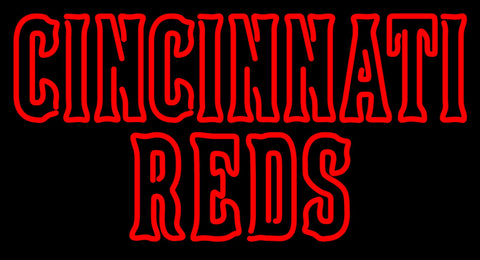 Cincinnati Reds Wordmark  Pres Logo MLB Neon Sign