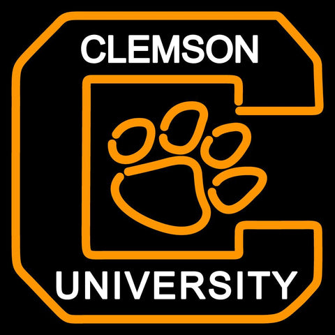 Clemson Tigers Alternate  Pres Logo NCAA Neon Sign