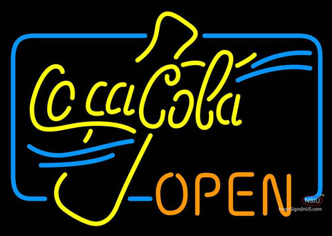 Coca Cola Open Neon Sign
