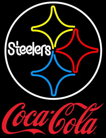 Coca Cola Pittsburgh Steelers Logo Red NFL Neon Sign