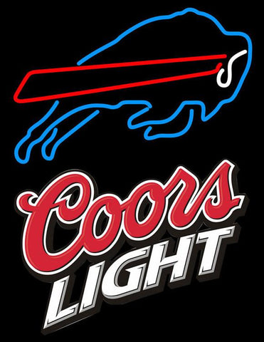 Coors Light Logo Buffalo Bills NFL Neon Sign