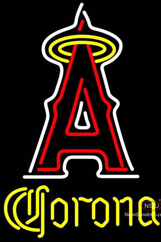 Corona Los Angeles Angels Of Anaheim MLB Neon Sign