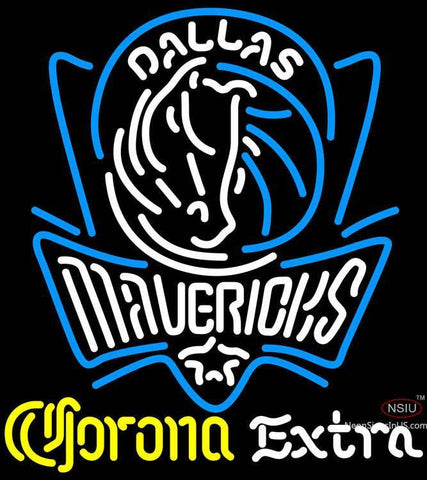 Corona Extra Neon Logo Dallas Mavericks NBA Neon Sign