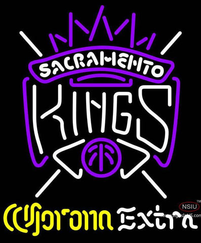 Corona Extra Neon Logo Sacramento Kings NBA Neon Sign