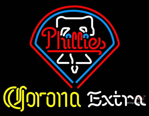 Corona Extra Neon Philadelphia Phillies MLB Neon Sign  7