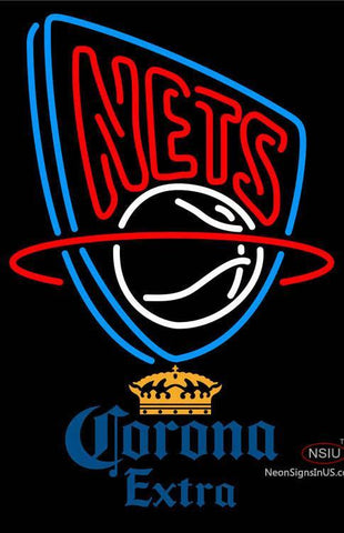 Corona Extra New Jersey Nets NBA Neon Sign