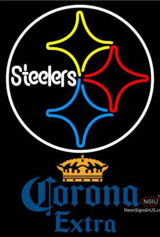 Corona Extra Pittsburgh Steelers NFL Neon Sign