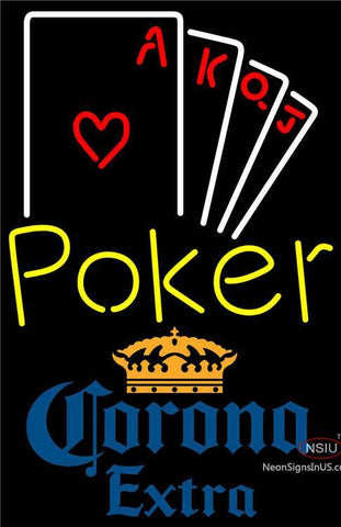 Corona Extra Poker Ace Series Neon Sign