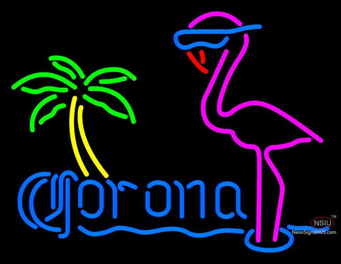 Corona Flamingo Neon Sign