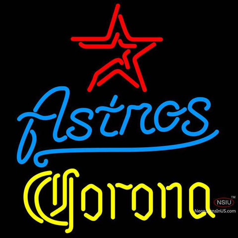 Corona Houston Astros MLB Neon Sign x