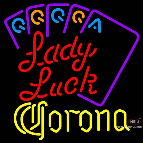 Corona Lady Luck Series Neon Sign x