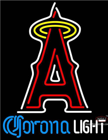 Corona Light Los Angeles Angels Of Anaheim MLB Neon Sign