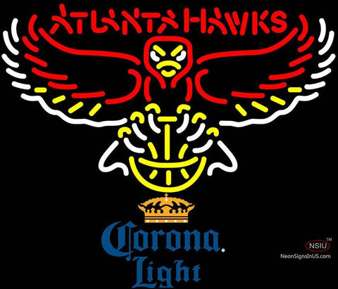 Corona Light Atlanta Hawks NBA Neon Sign