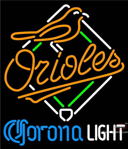 Corona Light Baltimore Orioles MLB Neon Sign