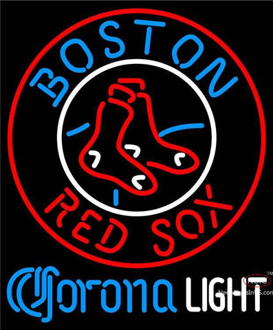 Corona Light Boston Red Sox MLB Neon Sign