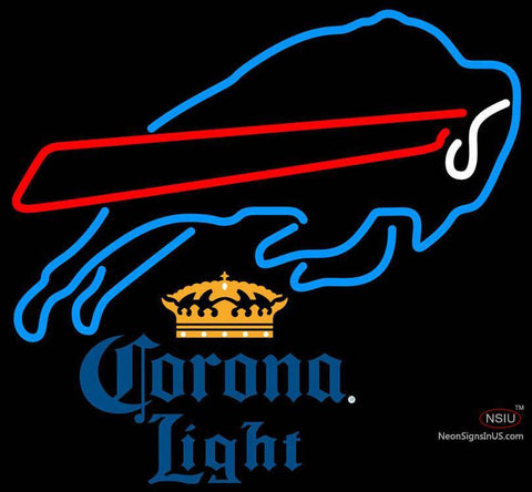 Corona Light Buffalo Bills NFL Neon Sign