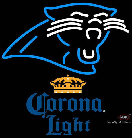 Corona Light Carolina Panthers NFL Neon Sign   x