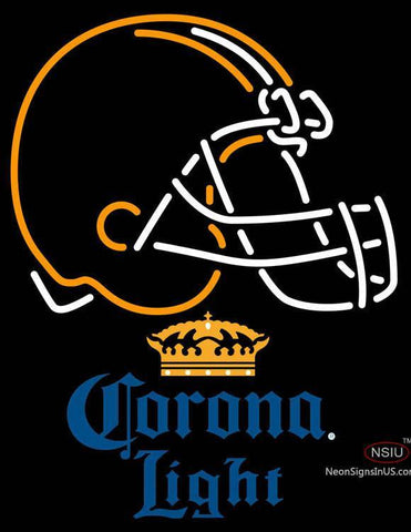 Corona Light Cleveland Browns NFL Neon Sign