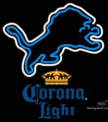 Corona Light Detroit Lions NFL Neon Sign