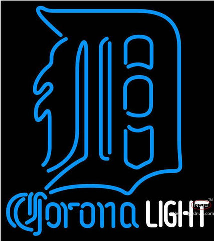Corona Light Detroit Tigers MLB Neon Sign