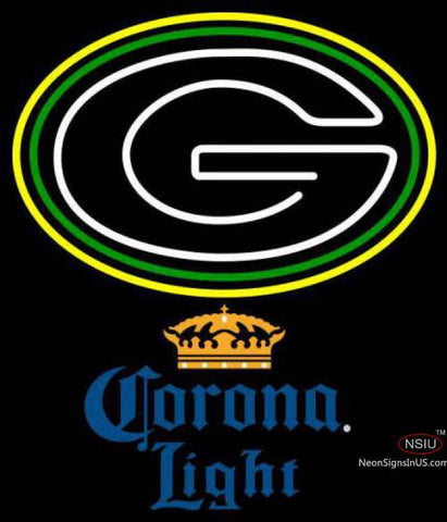 Corona Light Green Bay Packers NFL Neon Sign