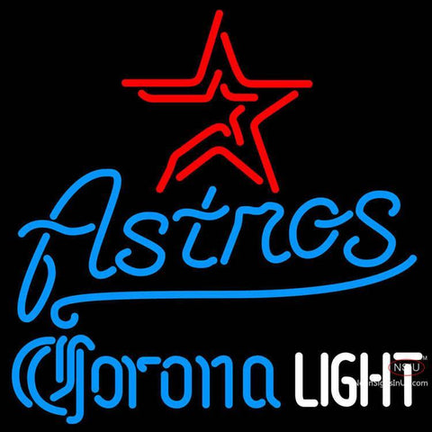 Corona Light Houston Astros MLB Neon Sign