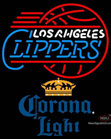 Corona Light Los Angeles Clippers NBA Neon Sign