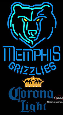 Corona Light Memphis Grizzlies NBA Neon Sign