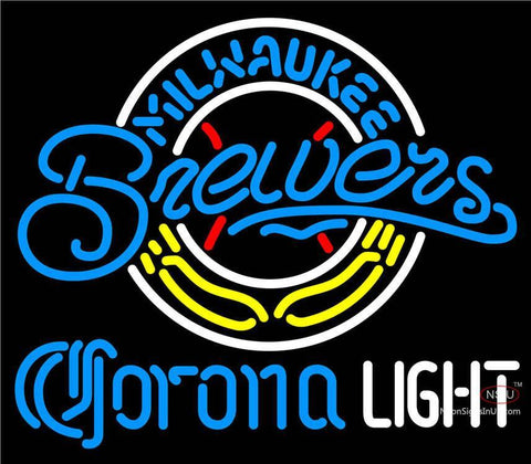 Corona Light Milwaukee Brewers MLB Neon Sign