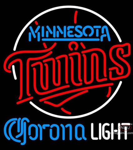 Corona Light Minnesota Twins MLB Neon Sign