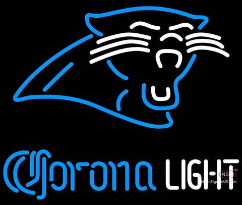 Corona Light Neon Carolina Panthers NFL Neon Sign