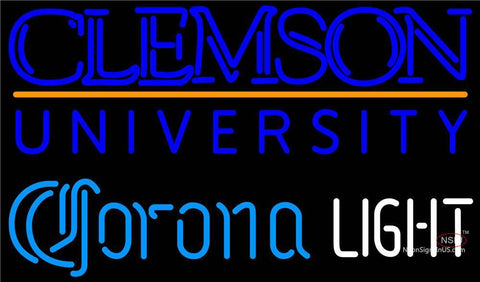 Corona Light Neon Clemson UNIVERSITY Neon Sign